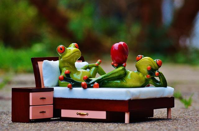 žáby v ložnici