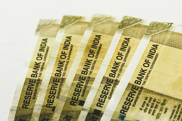 bankovky, indické rupie